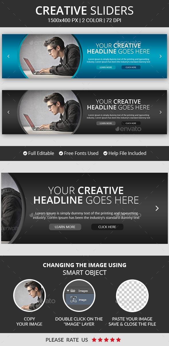 Creative Business Slider v15 - Sliders & Features Web Elements