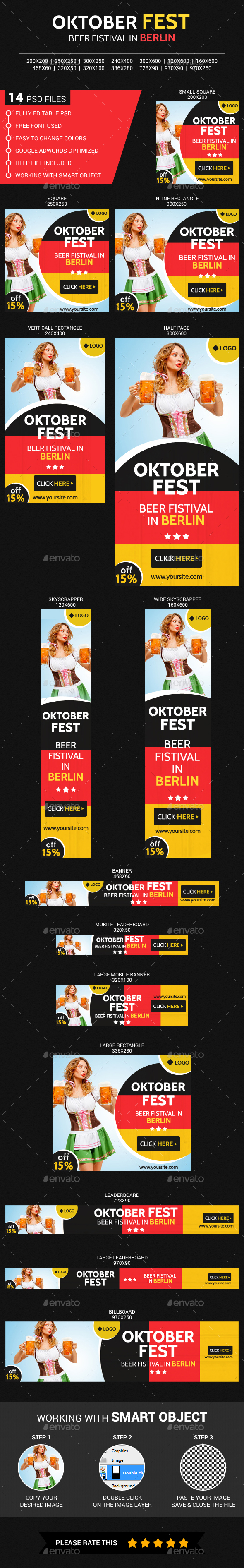 Oktober Fest - Banners & Ads Web Elements