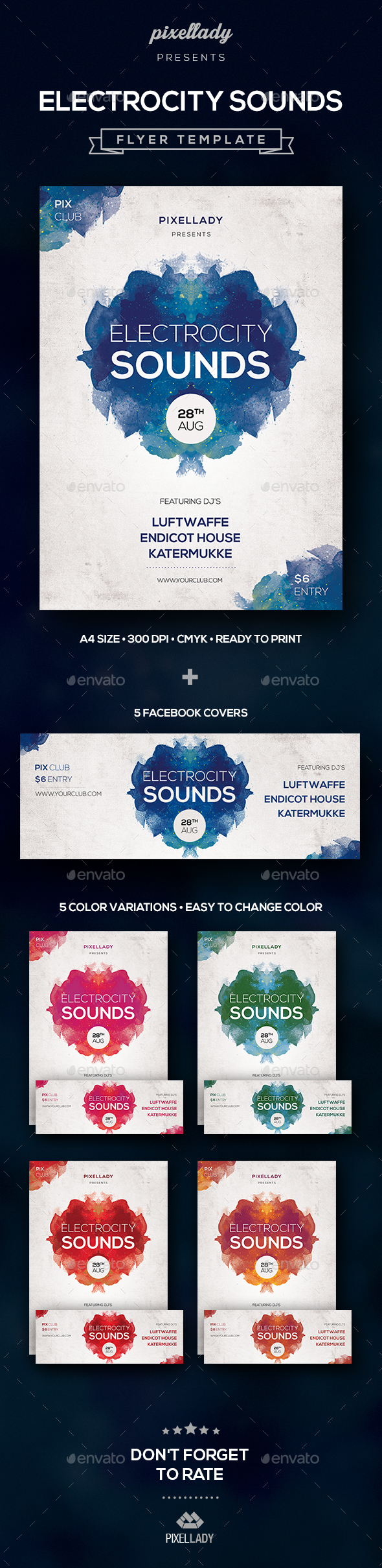 Electrocity Sounds Flyer - Flyers Print Templates