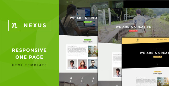 Nexus - Onepage Multipurpose Template - Creative Site Templates