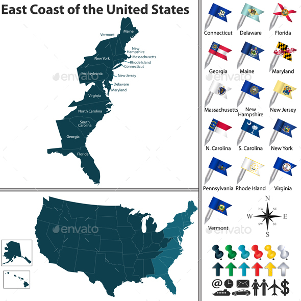 East Coast of the United States - Travel Conceptual