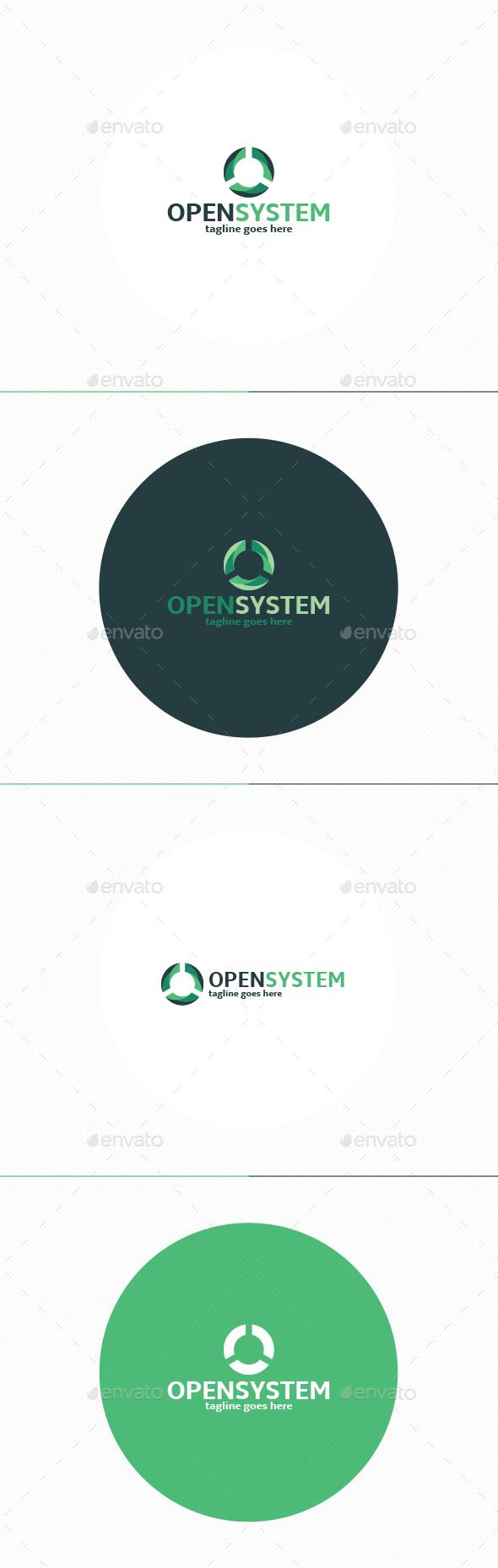 Open System Logo • Letter O - Letters Logo Templates