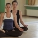 Young Healthy Girls Sitting In Lotus Pose - VideoHive Item for Sale