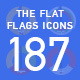 The Flat Flags Icons 187 - GraphicRiver Item for Sale