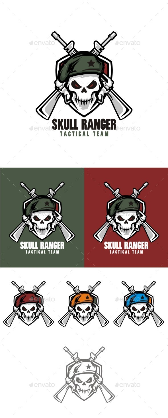 Skull Ranger - Symbols Logo Templates