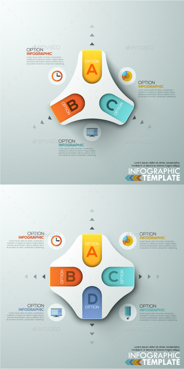 Modern Infographics Paper Template 2 Items