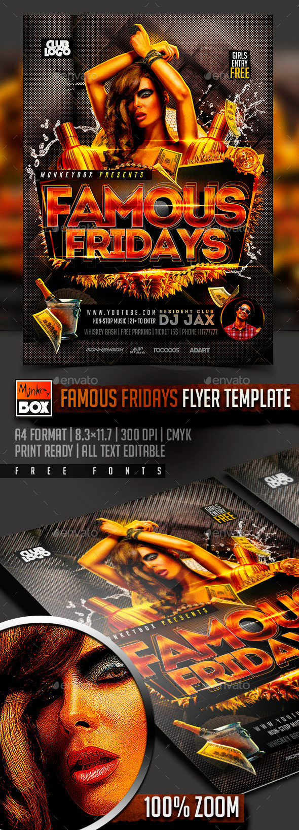 Famous Fridays Flyer Template