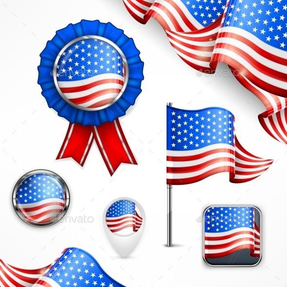 American National Symbols - Miscellaneous Vectors