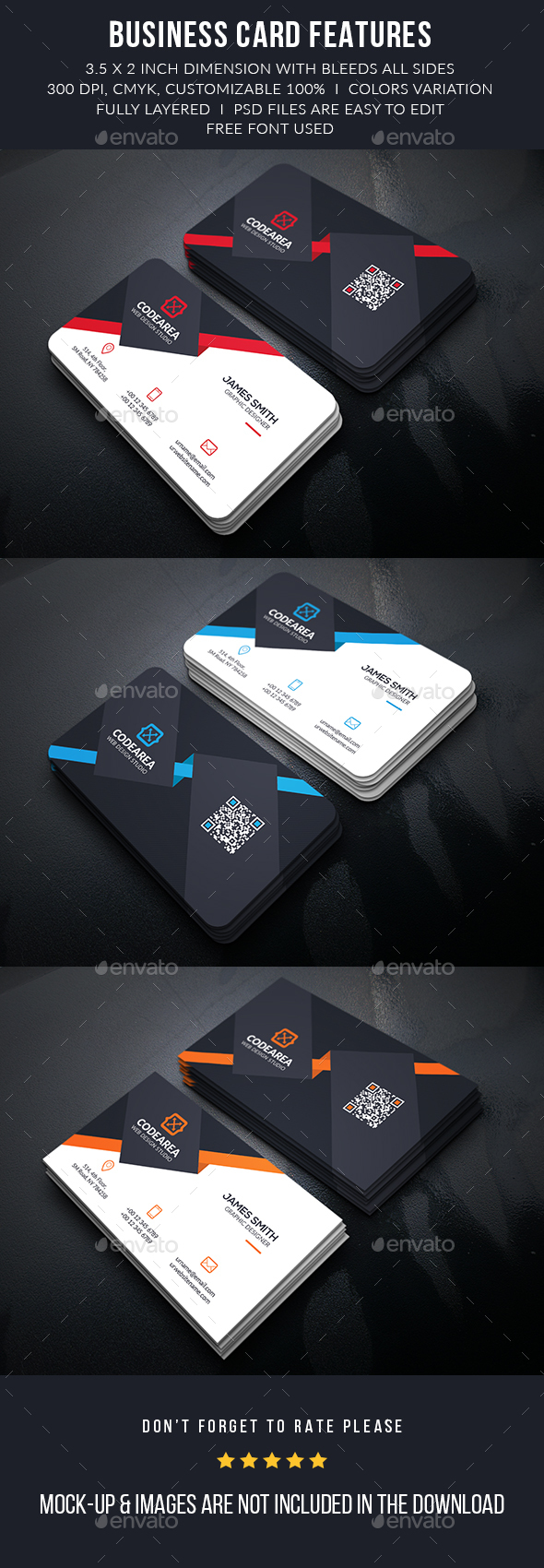 Elegant Corporate Business Cards - Business Cards Print Templates