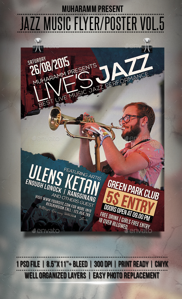 Jazz Music Flyer / Poster Vol.5 - Events Flyers