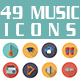 Music Industry Flat Icons - GraphicRiver Item for Sale