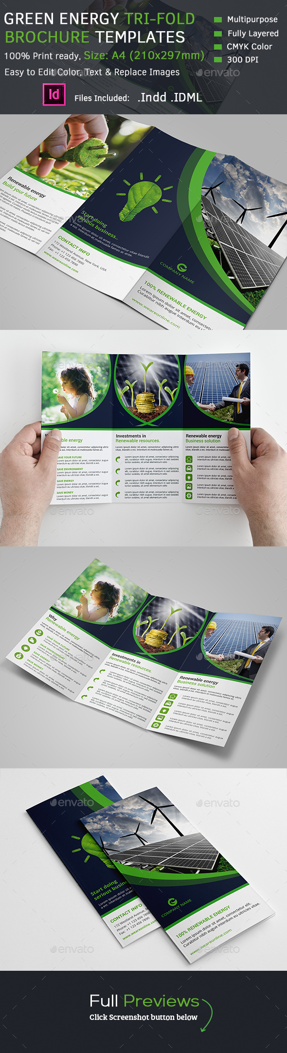 Green Energy Tri-Fold Brochure - Corporate Brochures