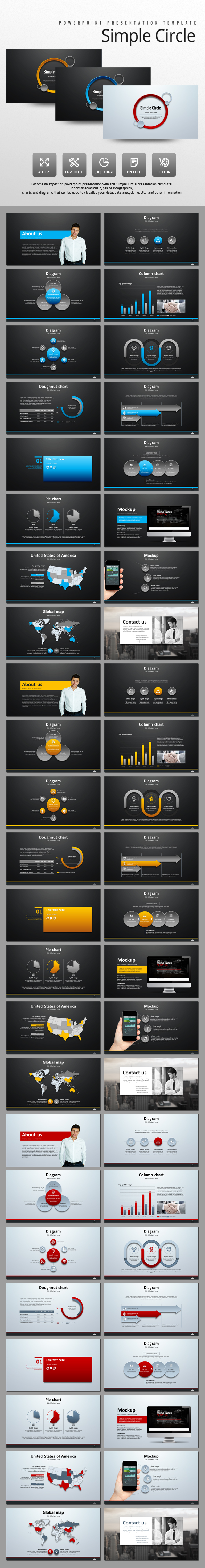 Simple Circle - PowerPoint Templates Presentation Templates