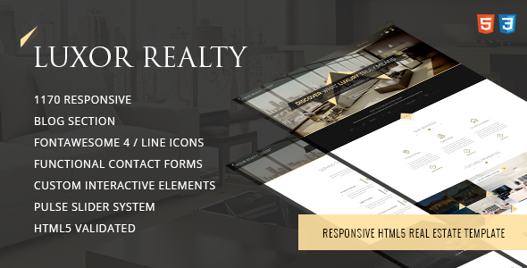 LUXOR – Responsive HTML5 Real Estate Template