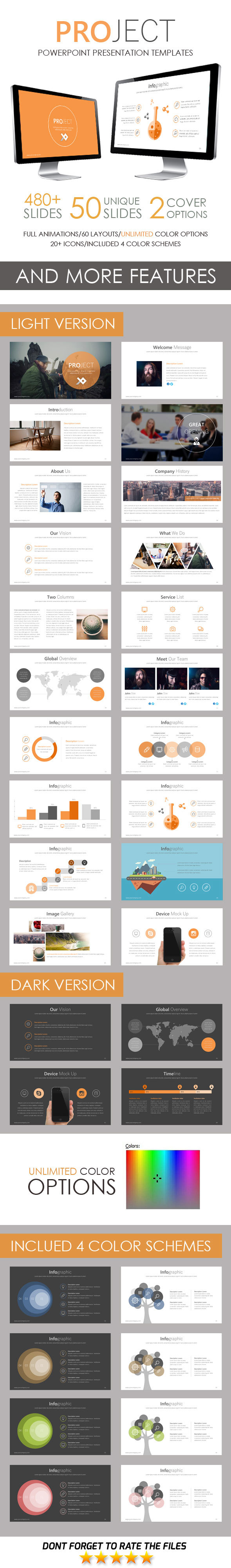 Project PowerPoint Template - Business PowerPoint Templates