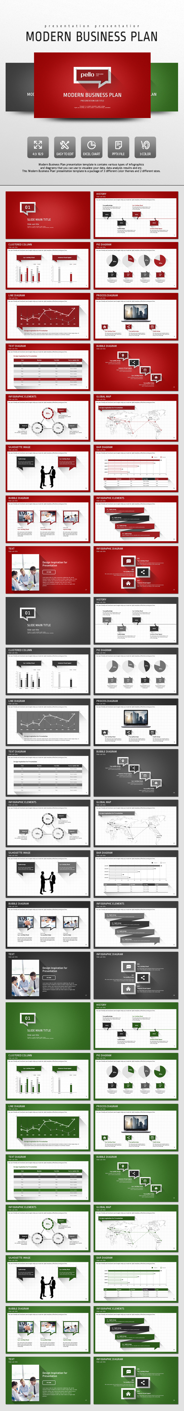 Modern Business Plan - Business PowerPoint Templates