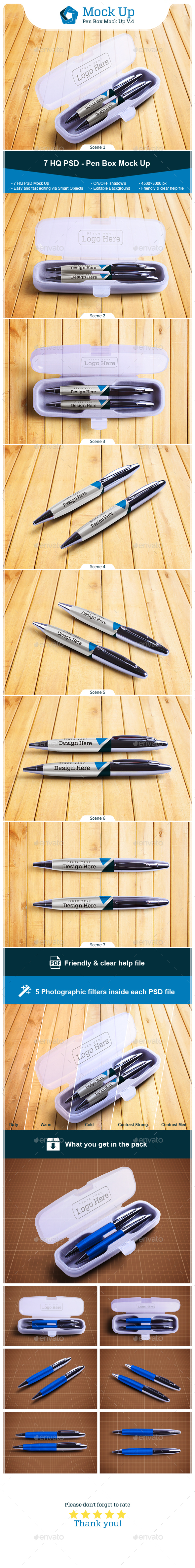 Pen Box Mock Up V.4 - Miscellaneous Product Mock-Ups