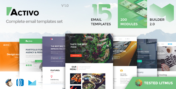 Activo – Email Templates Set with Online Builder