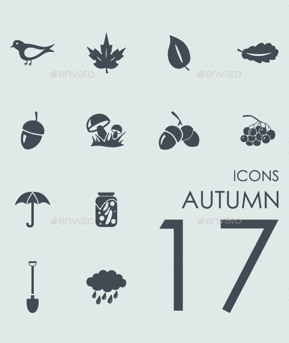 Set of Autumn icons - Icons