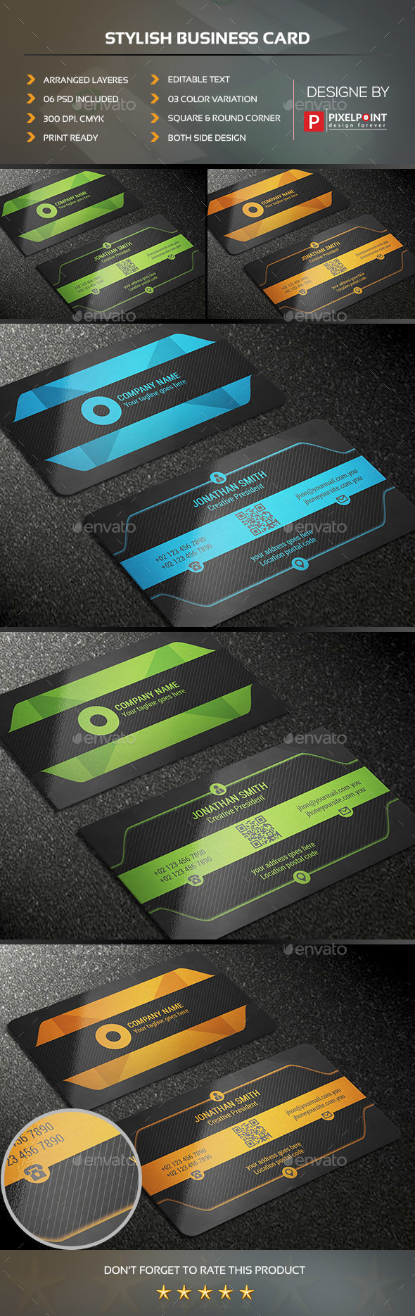 Stylish Business Card - Business Cards Print Templates