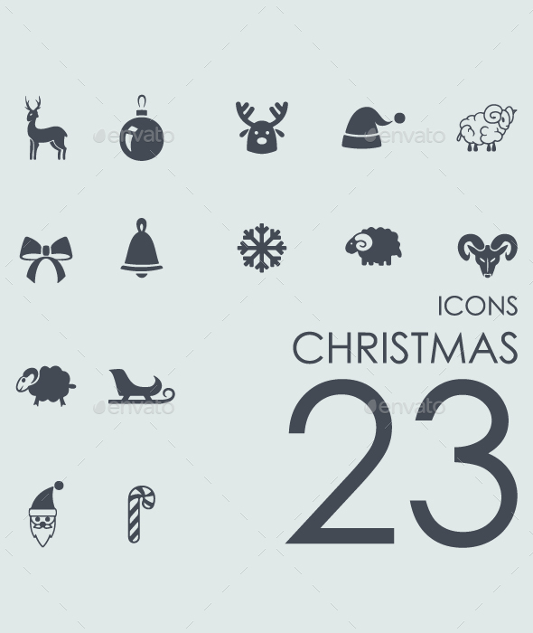 Set of Christnas icons - Icons