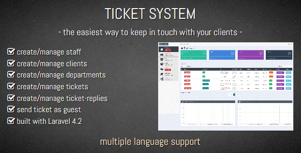 TICKET SYSTEM Customer Support Software