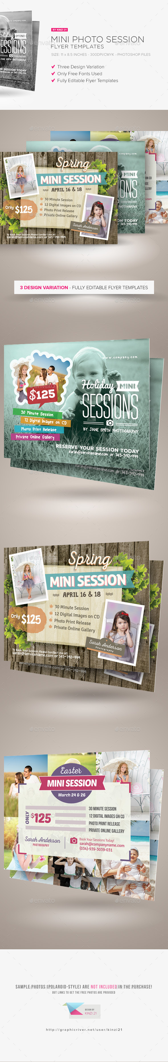 Mini Photo Session Flyer Templates - Corporate Flyers