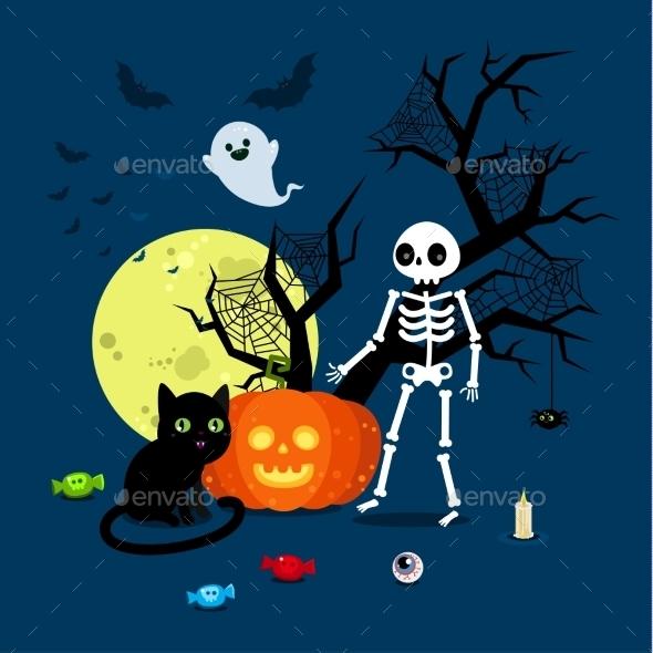 Halloween Illustration.  - Halloween Seasons/Holidays