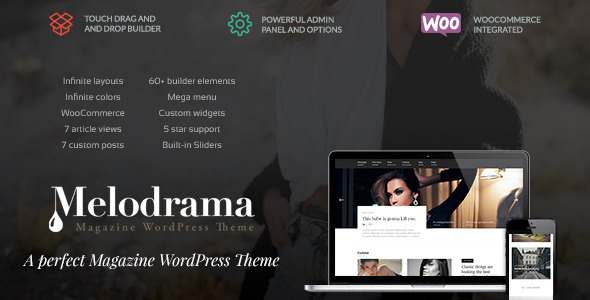 Melodrama - Clean & Stylish Magazine Theme