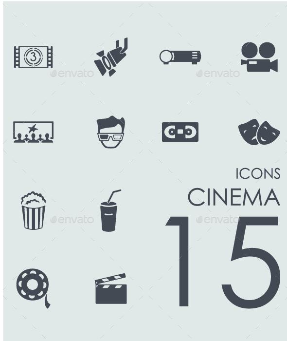Set of Cinema Icons - Icons