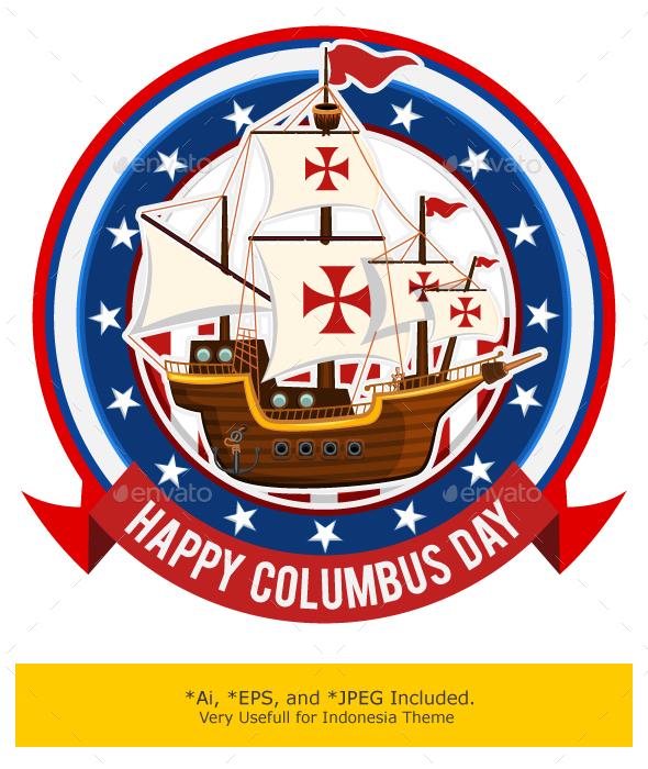 Happy Columbus Day by brancaescova GraphicRiver