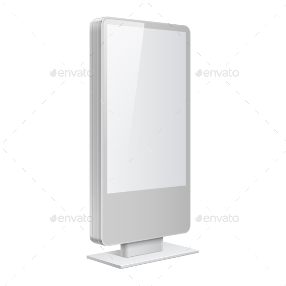 Realistic Light Box Template on White Background - Concepts Business