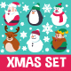 Christmas Flat Characters Set - GraphicRiver Item for Sale