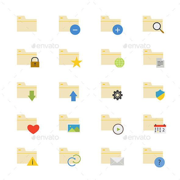 Folder Flat Icons Color - Icons