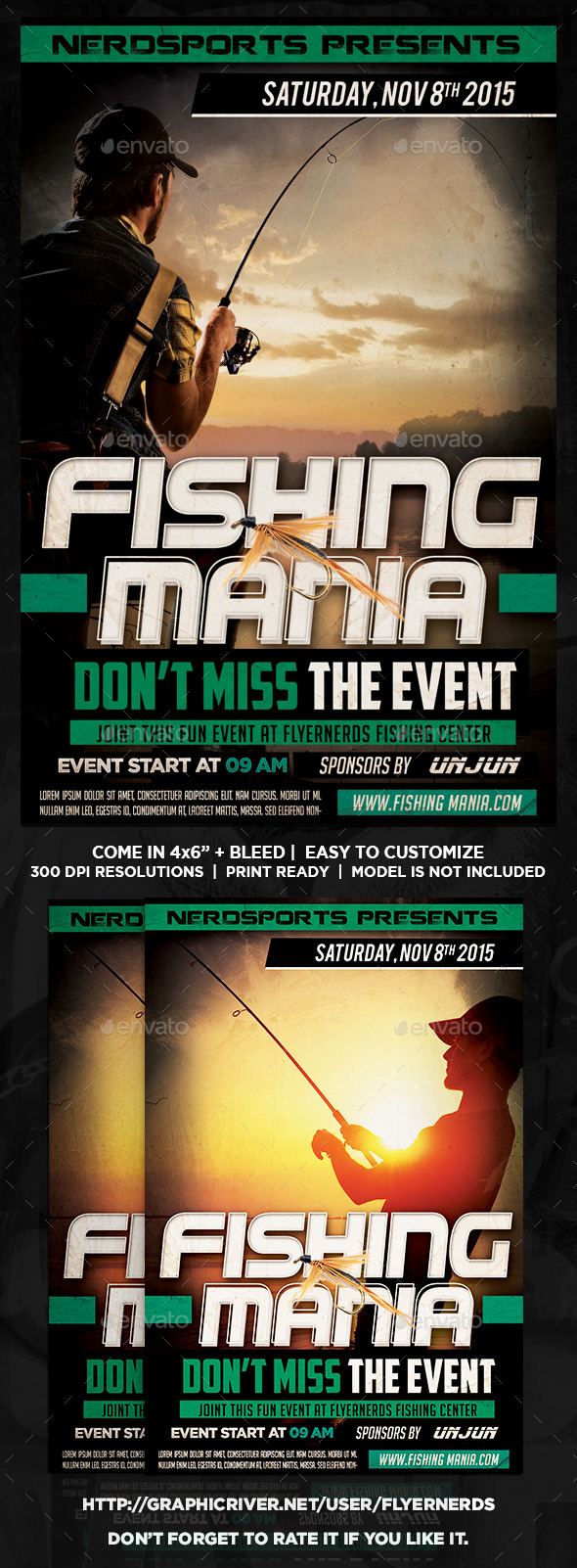 Fishing Manis Sports Flyer - Sports Events