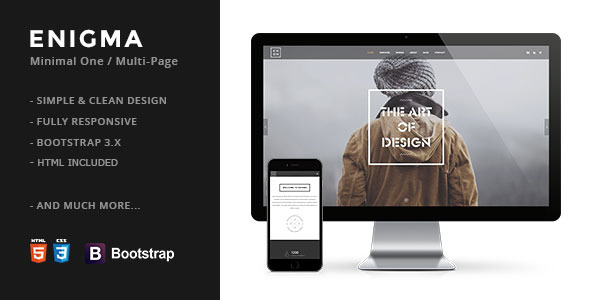 Enigma | Creative Responsive Minimal Drupal Themes