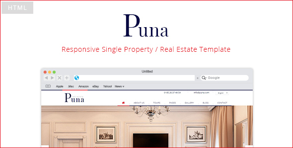 Puna - Responsive Single Property Template - Retail Site Templates