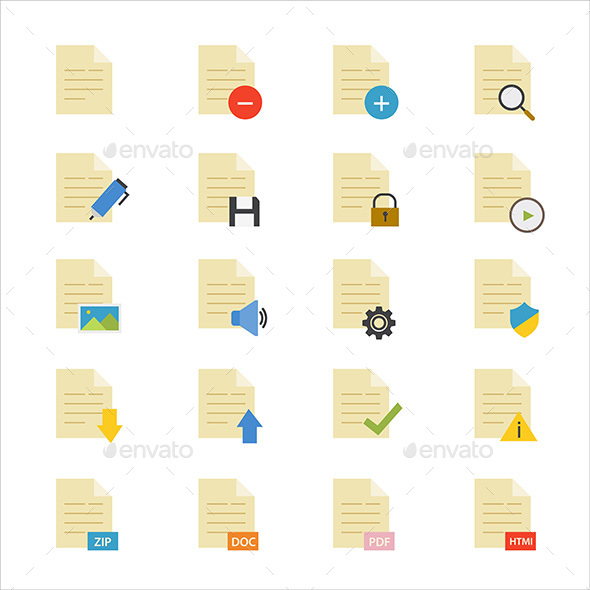 Document Flat Icons Color - Web Icons