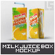 Milk or Juice Package Box Mock-Up - GraphicRiver Item for Sale