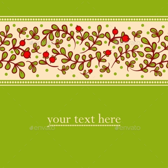 Lovely Autumn Background With Cranberries