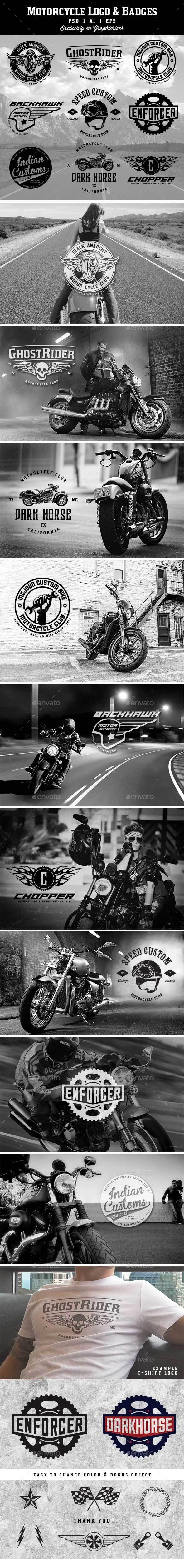 Motorcycle Logo&Badges - Badges & Stickers Web Elements
