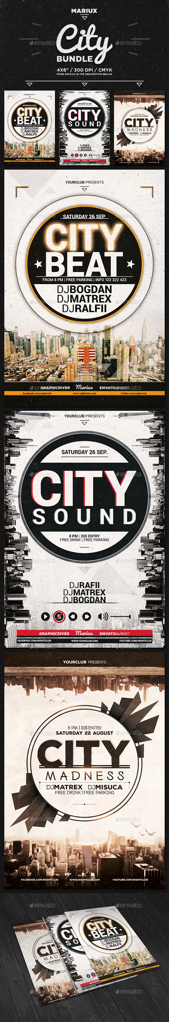 City Flyer Bundle - Clubs & Parties Events