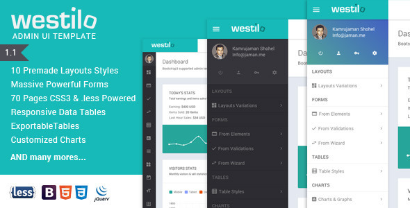 Westilo Bootstrap Responsive Admin Template