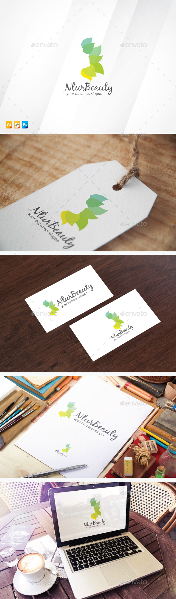 Nature Beauty - Humans Logo Templates