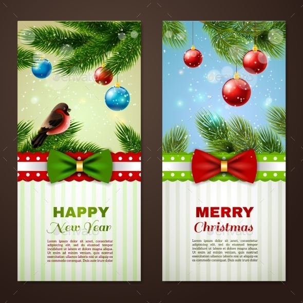 Christmas Cards Banners Set