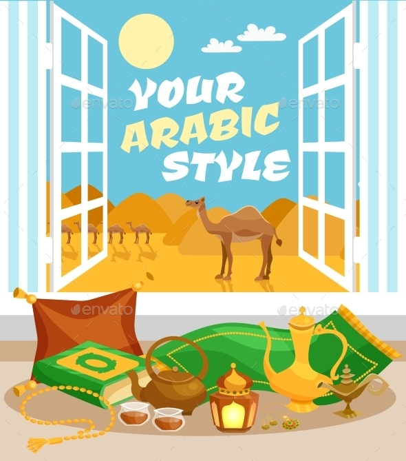 Arabic Culture Poster - Miscellaneous Vectors