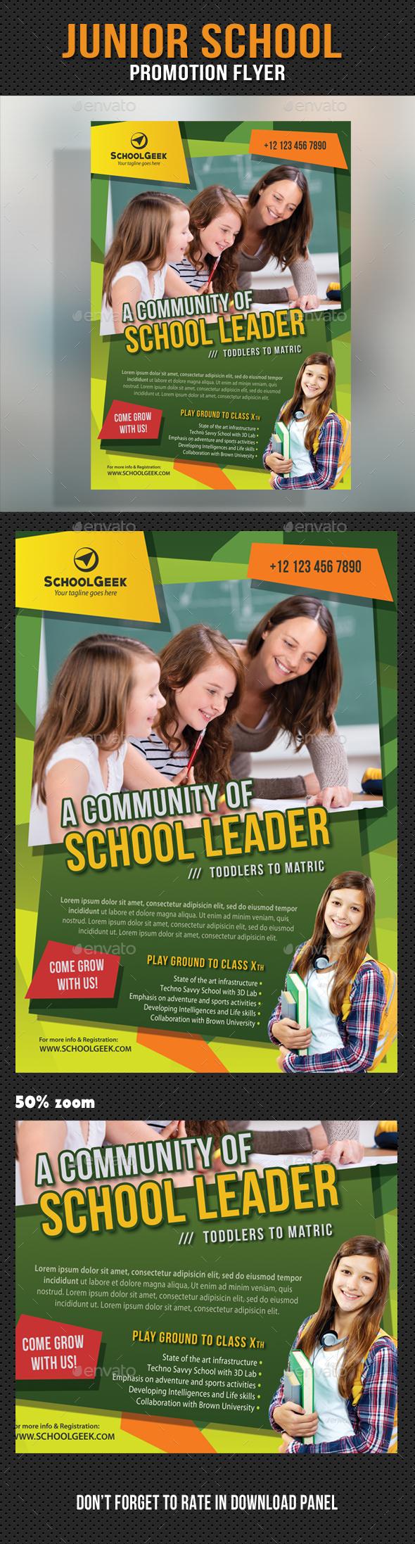 Junior School Promotion Flyer 12 - Events Flyers