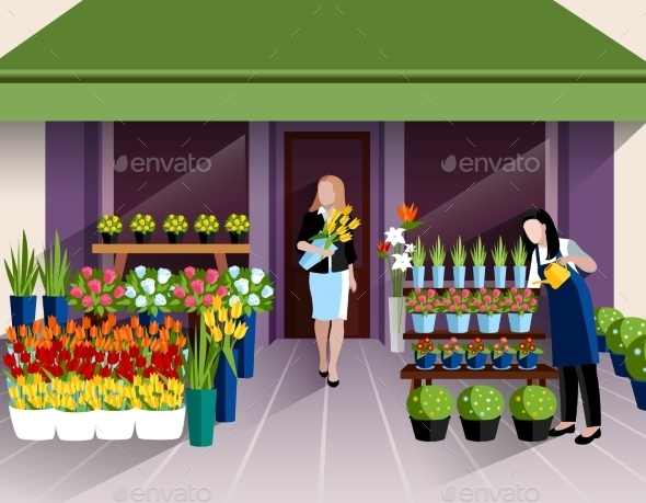 Flower Shop Entrance Banner - Retail Commercial / Shopping