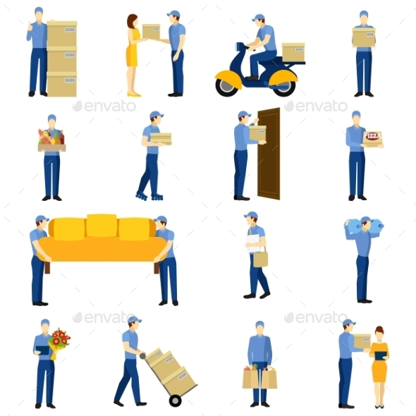 Delivery Man Set - Services Commercial / Shopping