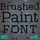 Brushed paint font - GraphicRiver Item for Sale